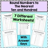 Round to the Nearest Ten and Hundred (Two Worksheets)