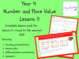 Round to the nearest 1000 lesson pack (Year 4 Number and P