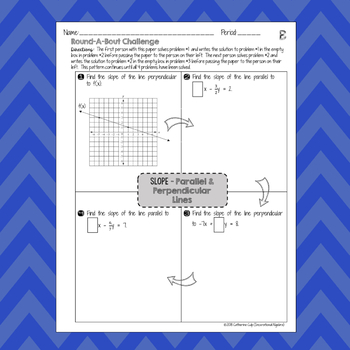 Slope of Parallel and Perpendicular Lines: RoundABout Challenge Activity