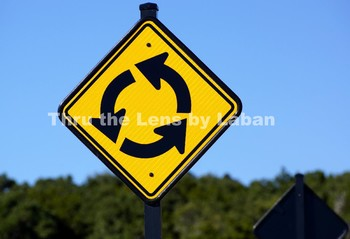 Roundabout Sign Stock Photo #154