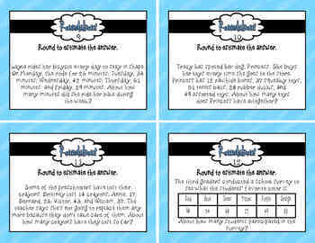 Roundabout rounding task cards