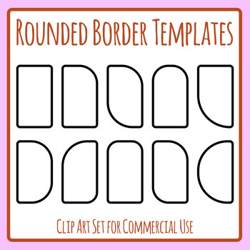 Rounded Border Note Sections, Newsletter Portions, Sidebars Template Clip Art