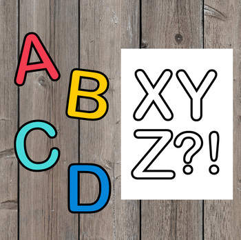 """Fun Rounded Letters (4"""") - Back to School Bulletin Board Decor"""
