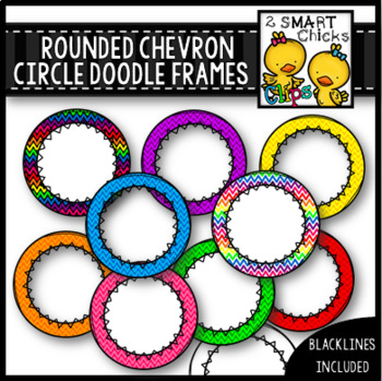 Rounded Chevron Circle Doodle Frames