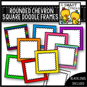 Rounded Chevron Square Doodle Frames