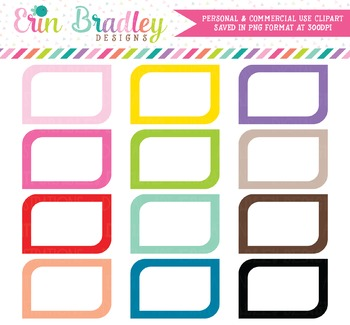 Rounded Corner Boxes Clipart