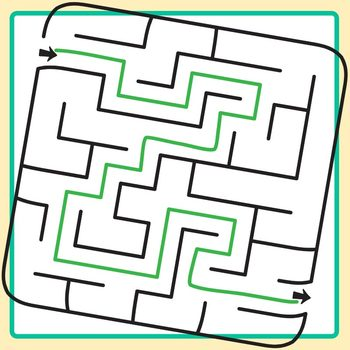 Rounded Corner Square Mazes Clip Art Set for Commercial Use