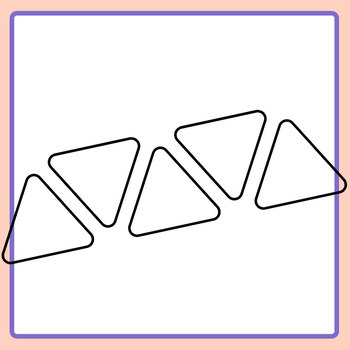 Rounded Corner Triangle Lines Templates for Sequencing or Patterns Clip Art