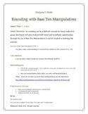 Rounding 0-10 with Base Ten Manipulatives