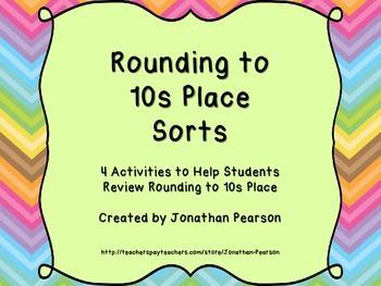 Rounding 10s Sorts - Hands-on Activities to Practice Rounding