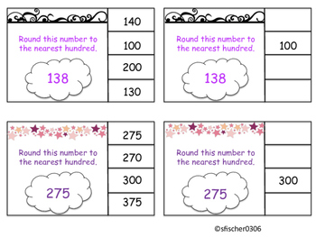 Rounding 10s and 100s clothes pin activity