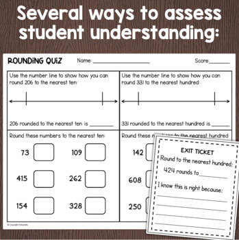 Rounding To The Nearest 10 And 100 Worksheets Task Cards More By