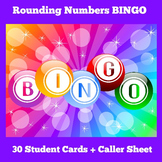 Rounding Numbers Game BINGO