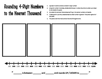 Rounding 2, 3, and 4-Digit Numbers Centers