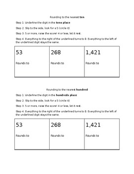 Rounding 2, 3, and 4 digit numbers to the tens and hundreds