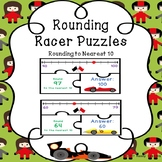 Round 2 Digit Numbers Rounding Number Line Round to the Nearest 10 Game Puzzles