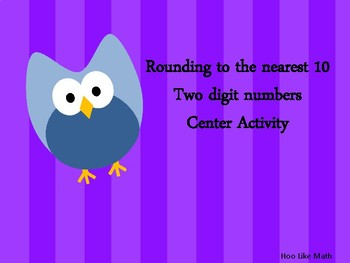 Rounding 2 digit center activity