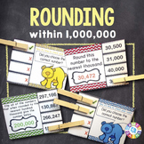 Rounding Numbers 4th Grade Task Cards {4.NBT.3}