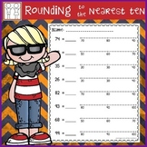 Rounding with Number Lines Worksheets