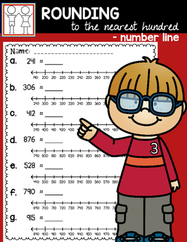 Rounding with Number Lines - Nearest 100