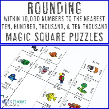 Rounding within 10,000 Numbers | Rounding Activities | Rounding Test Prep