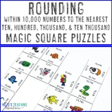 Rounding within 10,000 Numbers   Great for Math Test Prep, Activities, & Centers