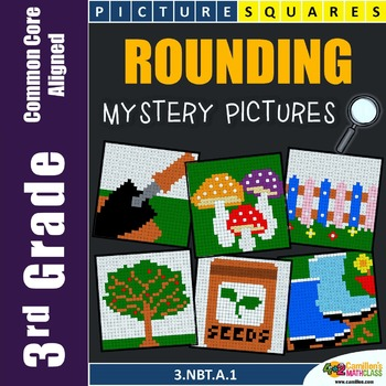 Place Value 3rd Grade Rounding Numbers Mystery Pictures