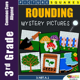 Place Value Centers, 3rd Grade Rounding Worksheets Mystery Pictures