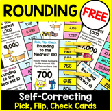 Rounding Numbers: Rounding to the Nearest 10, 100 and 1000 Free Clip Cards