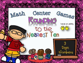 Rounding to the Nearest Ten Math Center Game