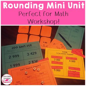 Rounding 4 Digit Numbers Mini Unit