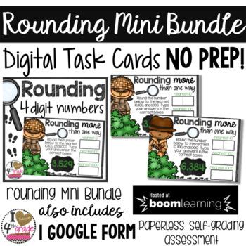 Rounding 4 Digit Numbers Mini Bundle for Google Classroom