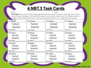 Rounding Task Cards 4.NBT.3 with QR codes