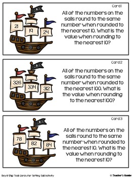Rounding Activities, Task Cards, and Worksheet Bundle