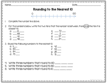 Rounding Activities and Practice Pages