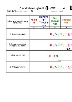 Rounding Anchor Chart