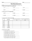 Rounding Assessment - Third Grade Common Core 3.NBT.1