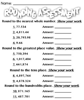 Rounding Assignment