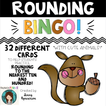 Rounding BINGO! 32 Cards to Help Students Round to the Nearest 10 or 100!