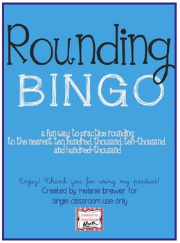 Rounding BINGO Math Game! Perfect for your small group!