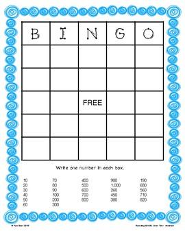 Rounding Game - BINGO - Ones, Tens, Hundreds {Differentiated}