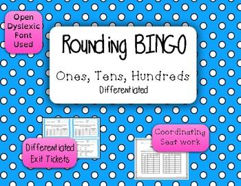 Rounding BINGO - Ones, Tens, Hundreds