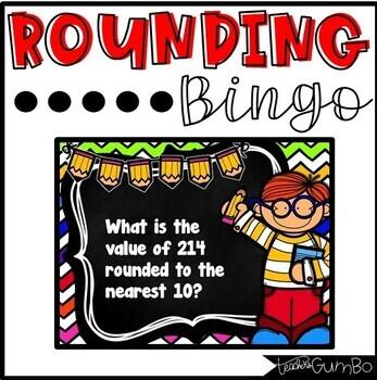 Rounding BINGO - Rounding to the nearest 10 & 100 game