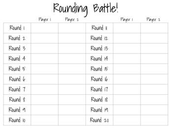 Rounding Battle! Game