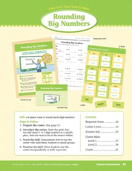 Rounding Big Numbers (Take It to Your Seat Centers Common Core Math)