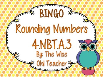 Rounding Bingo Game PowerPoint with Blank Bingo Cards 4.NBT.A.3