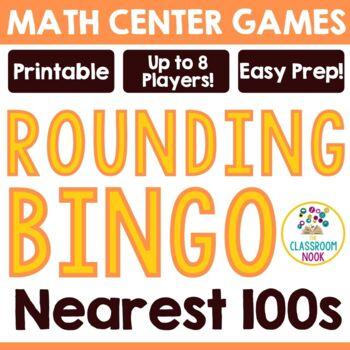 Rounding Bingo Game - To the Nearest Hundreds