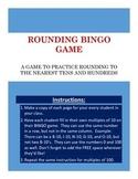 Rounding Bingo Template-No Prep