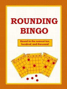 Rounding Bingo for Tens, Hundreds, and Thousands