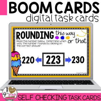 Rounding Boom Cards (3 digits to the nearest 10)